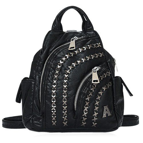 Casual Women's Satchel With Black Color and Metal Design #hats, #watches, #belts, #fashion, #style