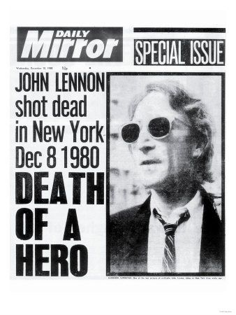 Death of a Hero, John Lennon Shot Dead in New York Dec 8 1980