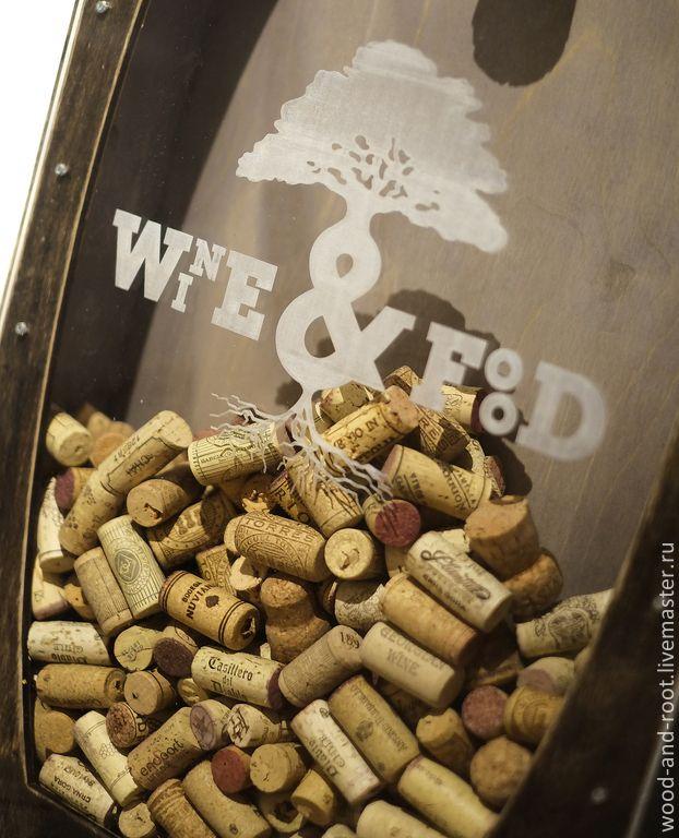 Купить или заказать Ящик для винных пробок Cork Box в интернет-магазине на Ярмарке Мастеров. уникальный деревянный ящик для хранения коллекции винных пробок под слоем душистого воска с гравировкой вашего рисунка картинки изображения или логотипа на акриловом стек…