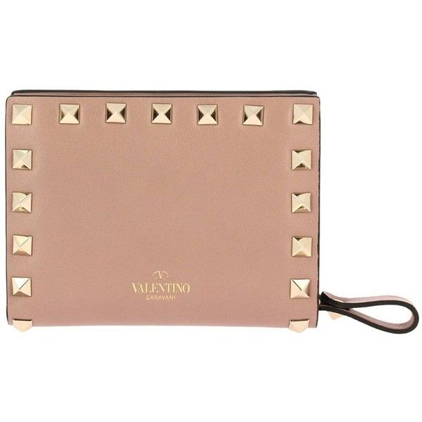 Wallet Wallet Women (8,110 MXN) ❤ liked on Polyvore featuring bags, wallets, powder, leather bags, genuine leather bags, beige wallet, 100 leather wallet and valentino wallet