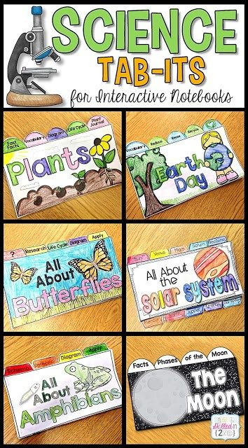 science activities, science interactive notebooks, science tab-its, science worksheets, science printables