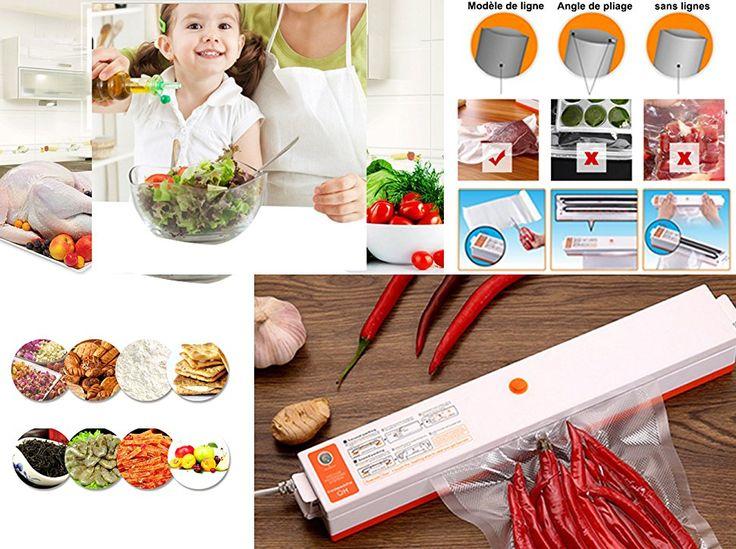 ROGUCI Conservation des aliments Appareil de Mise Sous Vide ,Ménage Alimentation automatique Vacuum Sealer machine à emballer Emballeuse d'emballer aliments