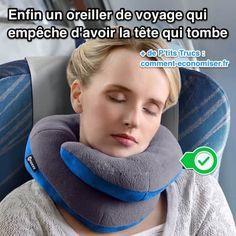 Voici un oreiller de voyage qui maintient le cou ET le menton pour empêcher la tête de tomber. Vous allez enfin réussir à dormir paisiblement dans l'avion. Découvrez l'astuce ici : http://www.comment-economiser.fr/oreiller-voyage-qui-empeche-vraiment-avoir-la-tete-qui-tombe.html?utm_content=buffer386ba&utm_medium=social&utm_source=pinterest.com&utm_campaign=buffer