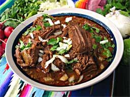 Birria is a slow cooked beef stew commonly eaten in Mexico especially during the holidays, very rich and flavorful