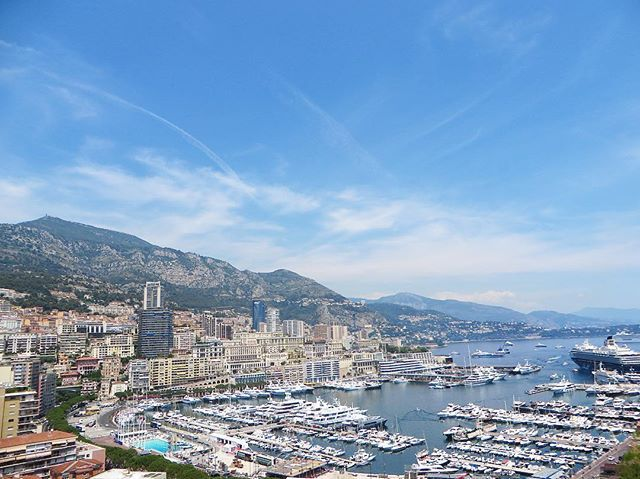 Beautiful Monaco! We were able to get a shot of this view on our way over to the Prince's Palace. A stop at the The Botanical Garden will offer its visitors spectacular ocean views as well.  #monaco #cotedeazur #travel #adventure #picoftheday #view #wanderlust #travelgram #yacht #yachtclub by (wernova). travelgram #travel #cotedeazur #picoftheday #yacht #wanderlust #monaco #adventure #view #yachtclub