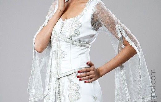 caftan de mariage blanc france 2015 - caftanluxe