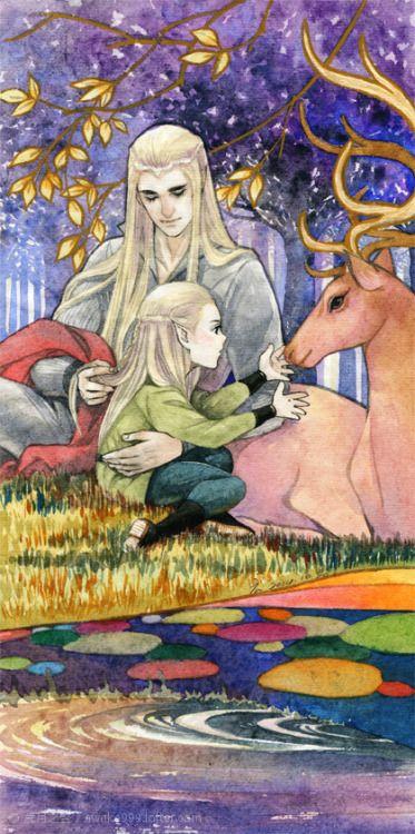 Thranduil & Legolas by awake999