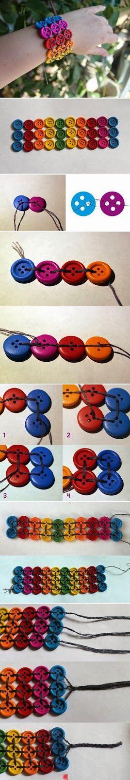 Easy DIY Crafts: DIY Bracelet easy jewelry craft idea.