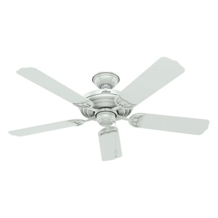 Hunter 53054 Sea Air 52 in. Outdoor Ceiling Fan - White - 53054