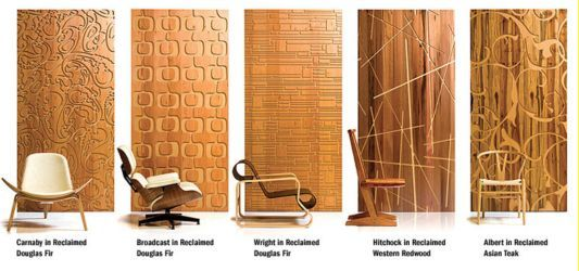 Reclaimed modern iconic wall panels THE MARTIN THE