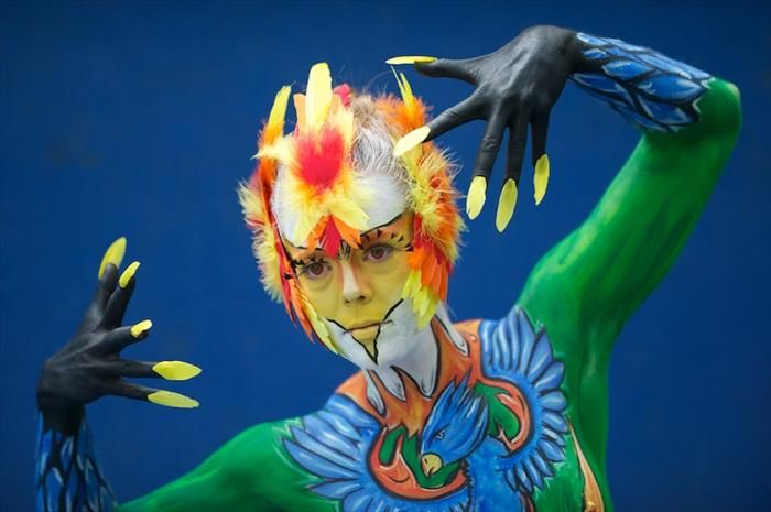 Body paint festival