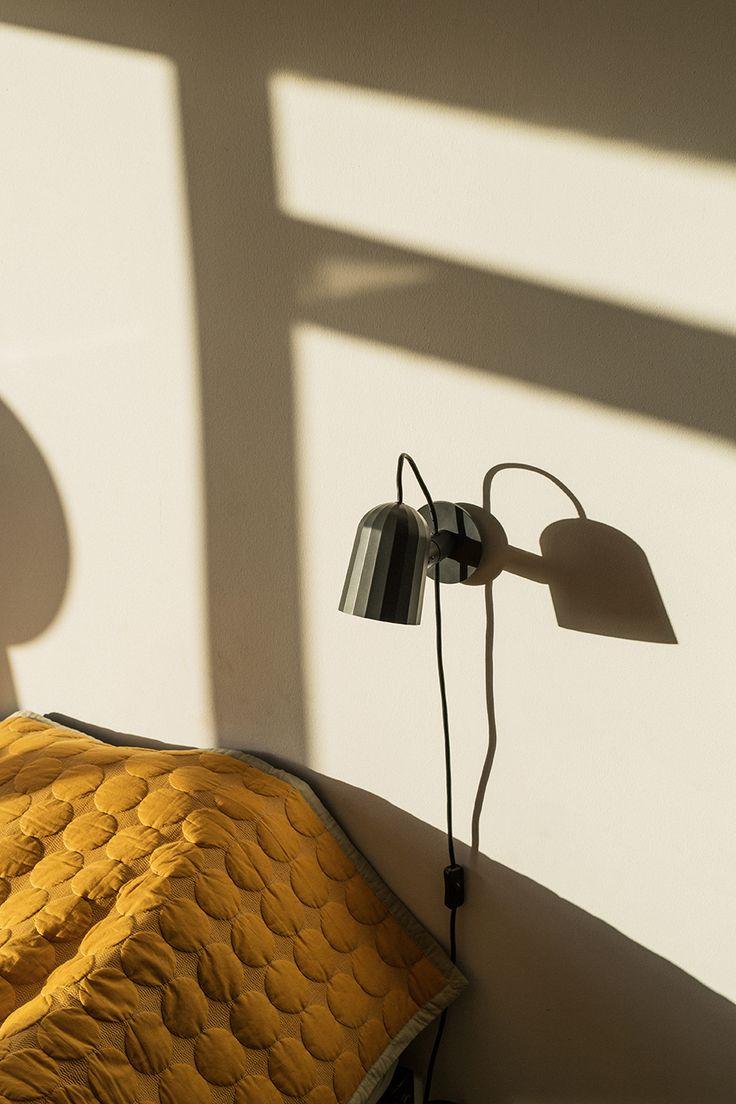 Mega Dot bed cover and Noc Wall lamp.