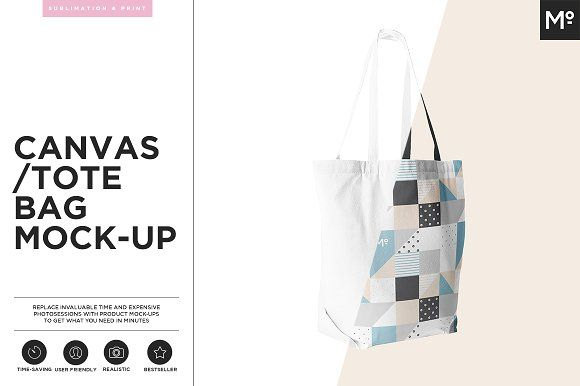 Canvas Tote Bag Mock-up by Mocca2Go/mesmeriseme on @creativemarket
