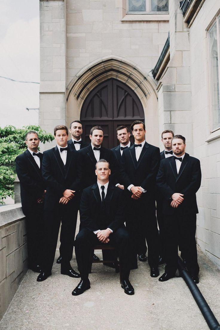 The Brauns - Dapper Groomsmen Black Tuxedo Wedding