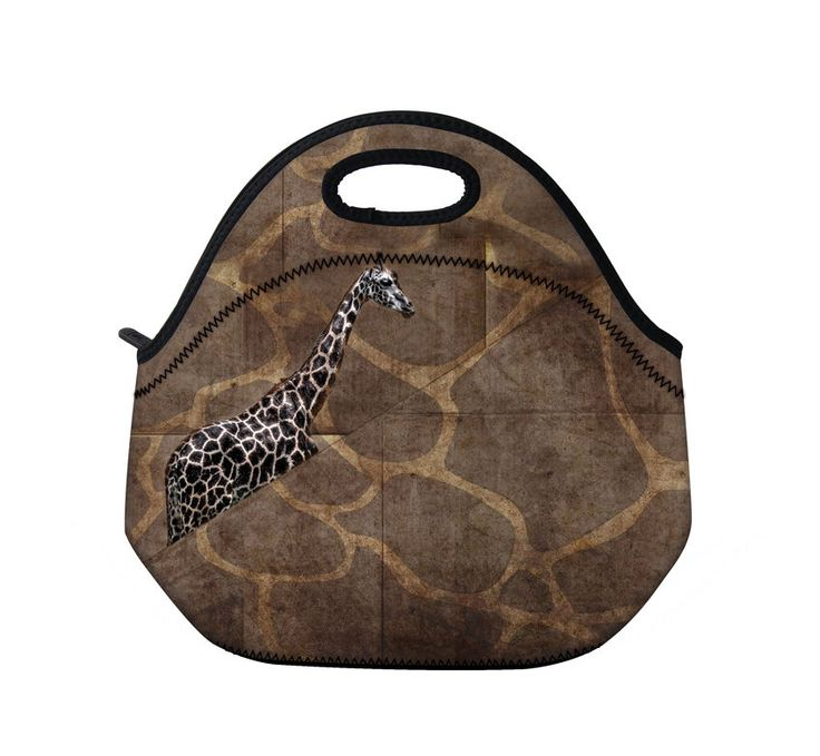 Giraffe Thermal Neoprene Insulated Bag Picnic Bag Outdoor Cooler Lunch Tote Bag | eBay