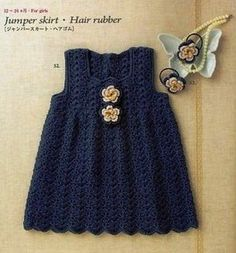 Dresses for girl and free charts! Pattern Chart for this and many other super cute dresses.
