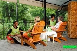 Foot pampering on the deck overlooking the Craighall river.