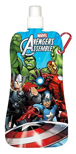 Foldable Water Bottle / Collapsible Water Bottle / Reuseable Soft Bottle With Push Pull Cap Avengers