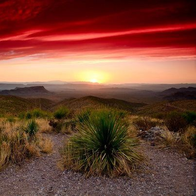 Sunrise over Big Bend   Texas