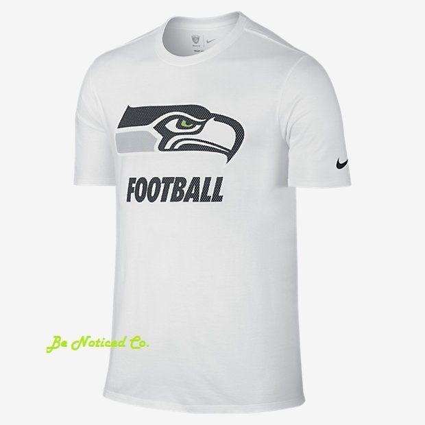 Nike Facility NFL Seahawks Men's T-Shirt 2XL White Gym Casual Training New