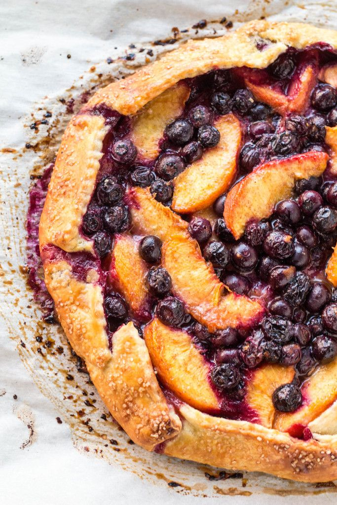 There's still a month of summer left! Blueberry Peach Crostata   Coley Cooks...