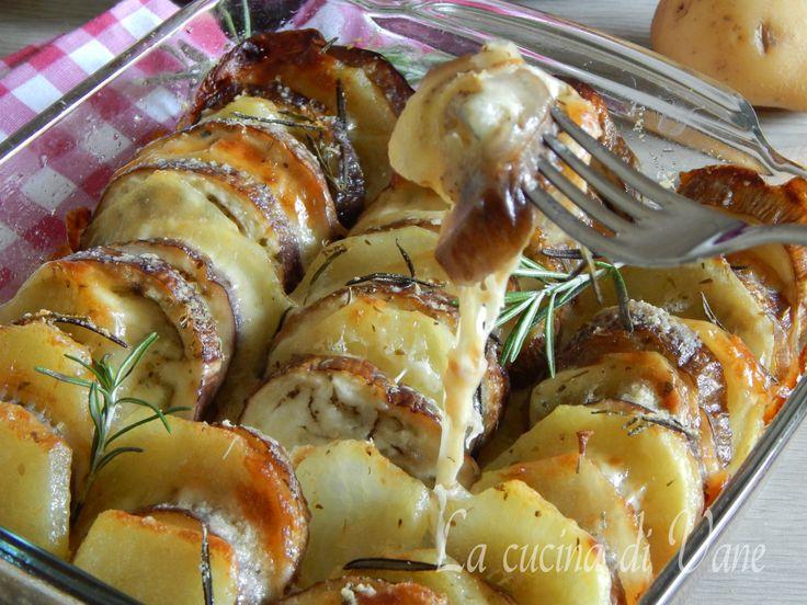 melanzane e patate al forno con scamorza.