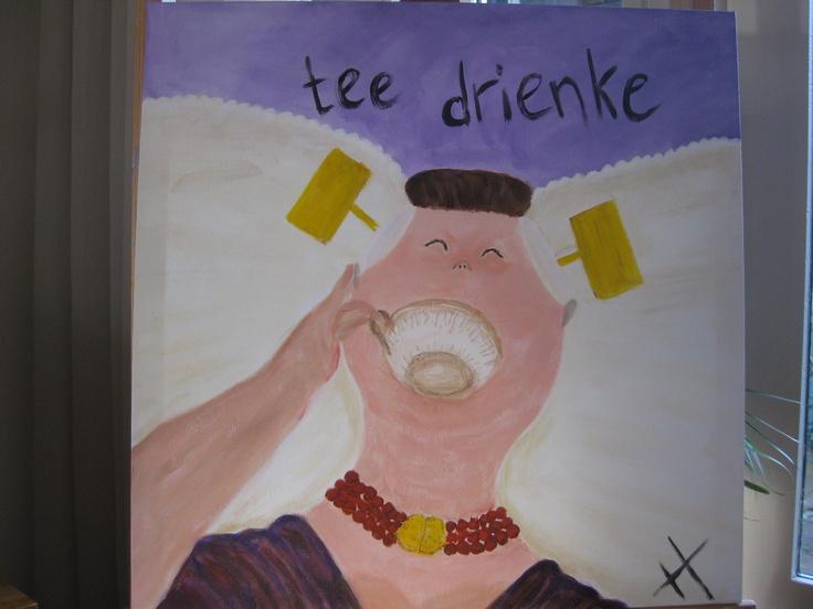 tee drienke, Zeeuws by Hannie van den Dool