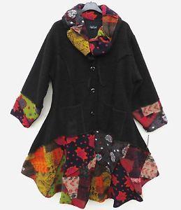 Sarah Santos TRAUMHAFT Mantel Coat Manteau 90% Wolle XXL 52 54 Lagenlook schwarz | eBay