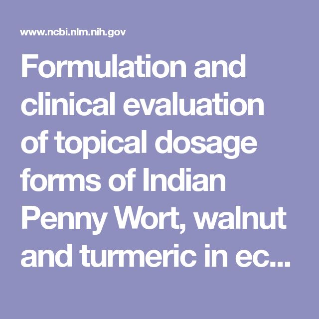 Formulation and clinical evaluation of topical dosage forms of Indian Penny Wort, walnut and turmeric in eczema.  - PubMed - NCBI