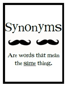 17+ images about Language arts - synonyms and antonyms on ...