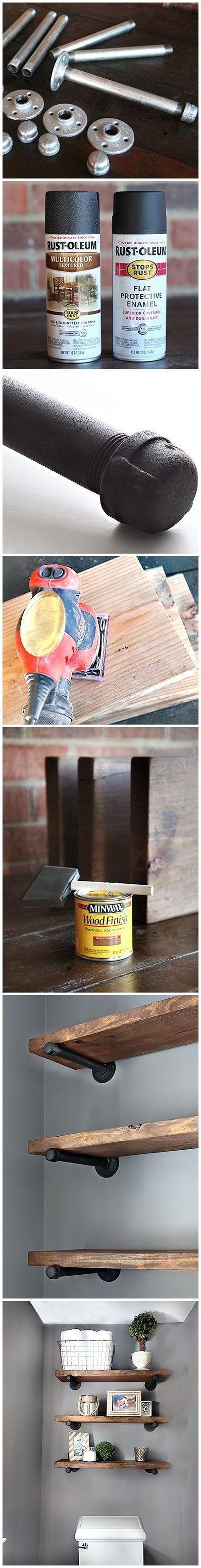 DIY Restoration Hardware - Inspired Shelving