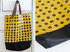 Tutorial fai da te: Come fare una shopper a pois  via DaWanda.com