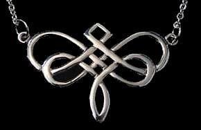 "Lámpara colgante libélula celta nudo infinito plata.925 encanto incluye 18 ""collar por mayor mano Casted joyería hecha a mano"