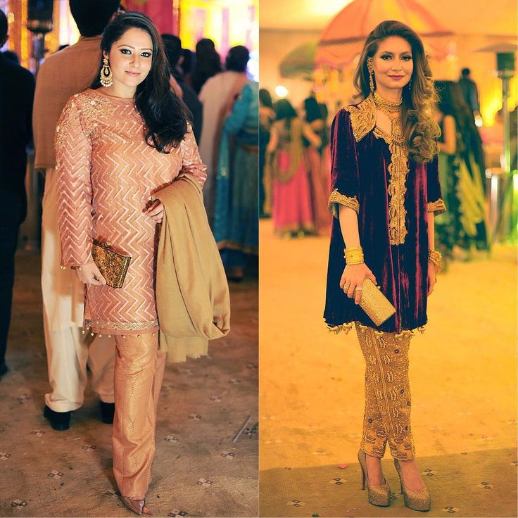 """Sara Irfan & Momina Ahmed go for short shirts this wedding season and it looks pretty darn good  @sarairfan8 @momina_ahmed"""