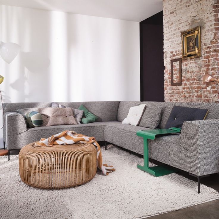 Bloq bank 3-zits 1-arm + chaise longue | Design on Stock