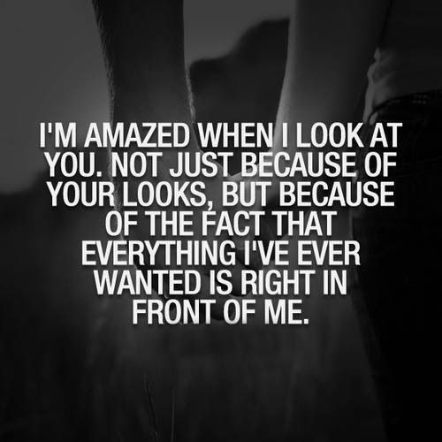 it took me awhile to figure this out. and a break up along the way to know that you were everything i ever wanted. i promise to you i wont do anything to hurt you and to end this. because not only would i break your heart but my own.