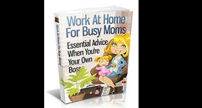 Work At Home For Busy Moms and Dads - Essential Advice When You Are Your Own Boss