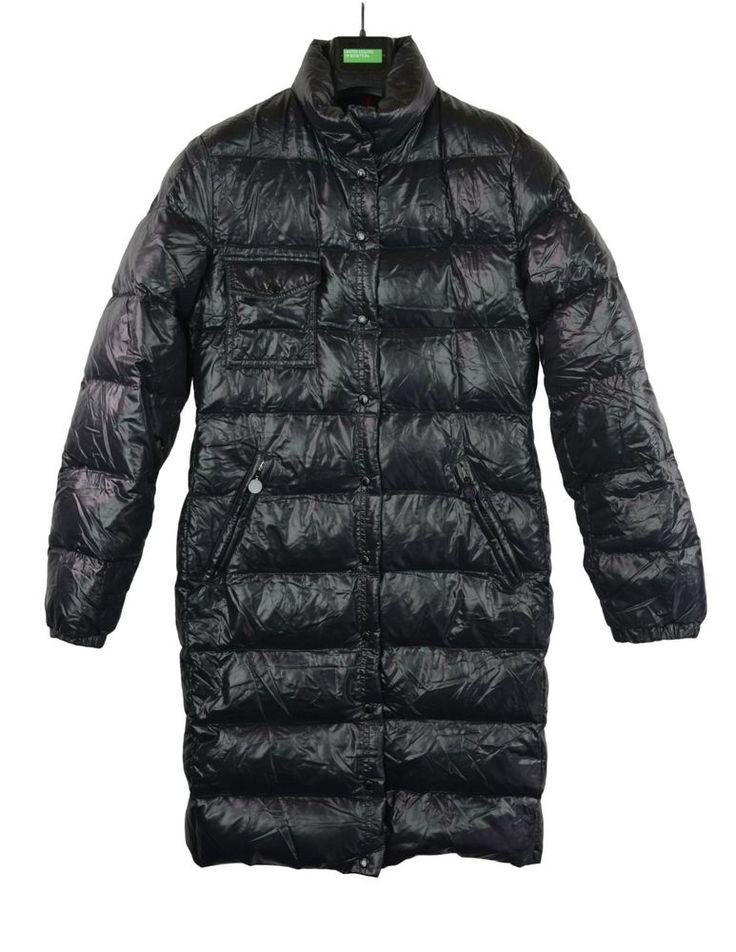 Moncler Meina Daunenmantel Schwarz Gr. 3 DE 40 Langer Daunenjacke Size L Jacket