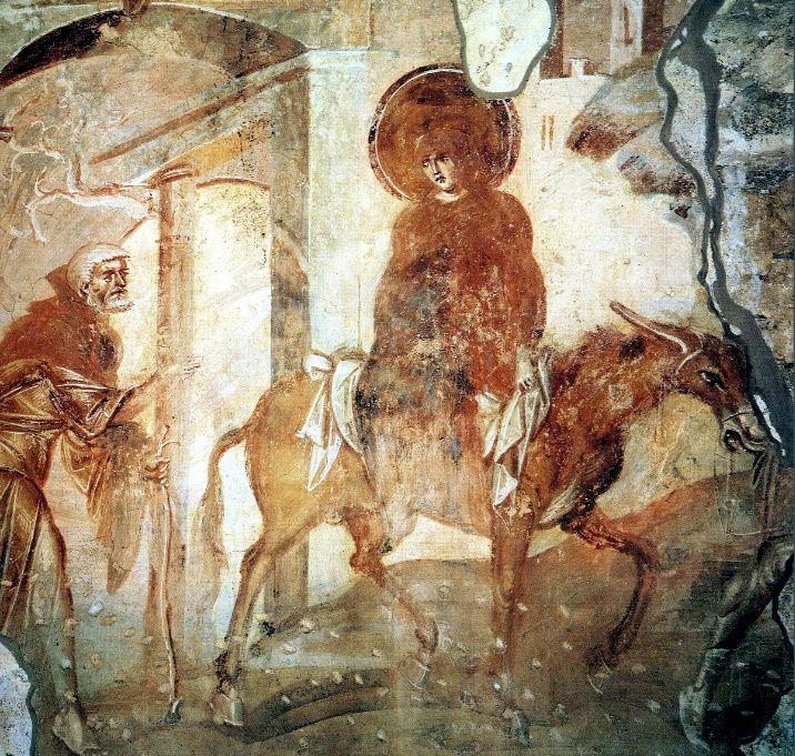 Путешествие в Вифлеем; Византия; VIII в.; местонахождение:  Италия. Кастельсеприо, церковь Санта-Мария форис портас