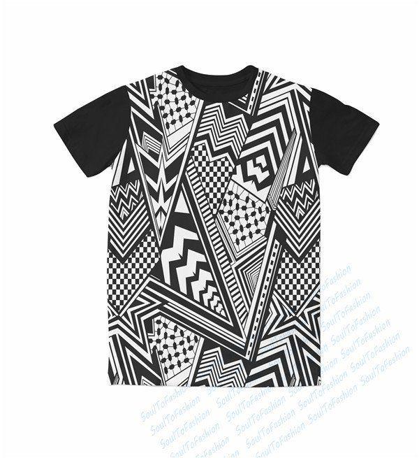 Black and White Aztec T-Shirt