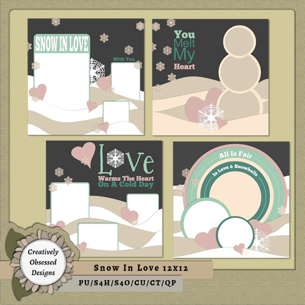 79 best 12x12 digital scrapbook templates images on pinterest snow in love 12x12 pronofoot35fo Gallery