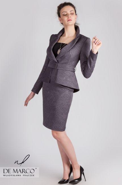 93577b9cfa kostiumy damskie wizytowe  demarco  frydrychowice  sukienka  wesele   kostium  garsonka  moda  wf  styl …
