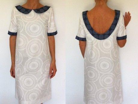 Patron de couture - Robe col claudine et dos nu. Cours-couture.com