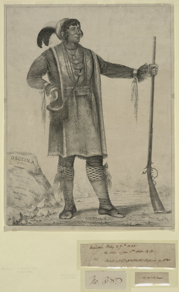osceola the great creek war chief Micanopy (c 1780 – january 2, 1849), also known as micco-nuppe, michenopah, miccanopa, mico-an-opa and sint-chakkee (pond frequenter, as he was known prior to accession), was the leading chief of the seminoles who led the tribe during the second seminole war.