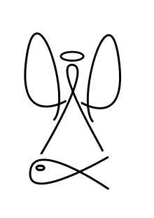 Raphael (archangel) - Vectorial representation of Archangel Raphael atop a fish.