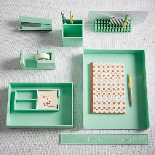 color pop office accessories mint west elm chic mint teal office