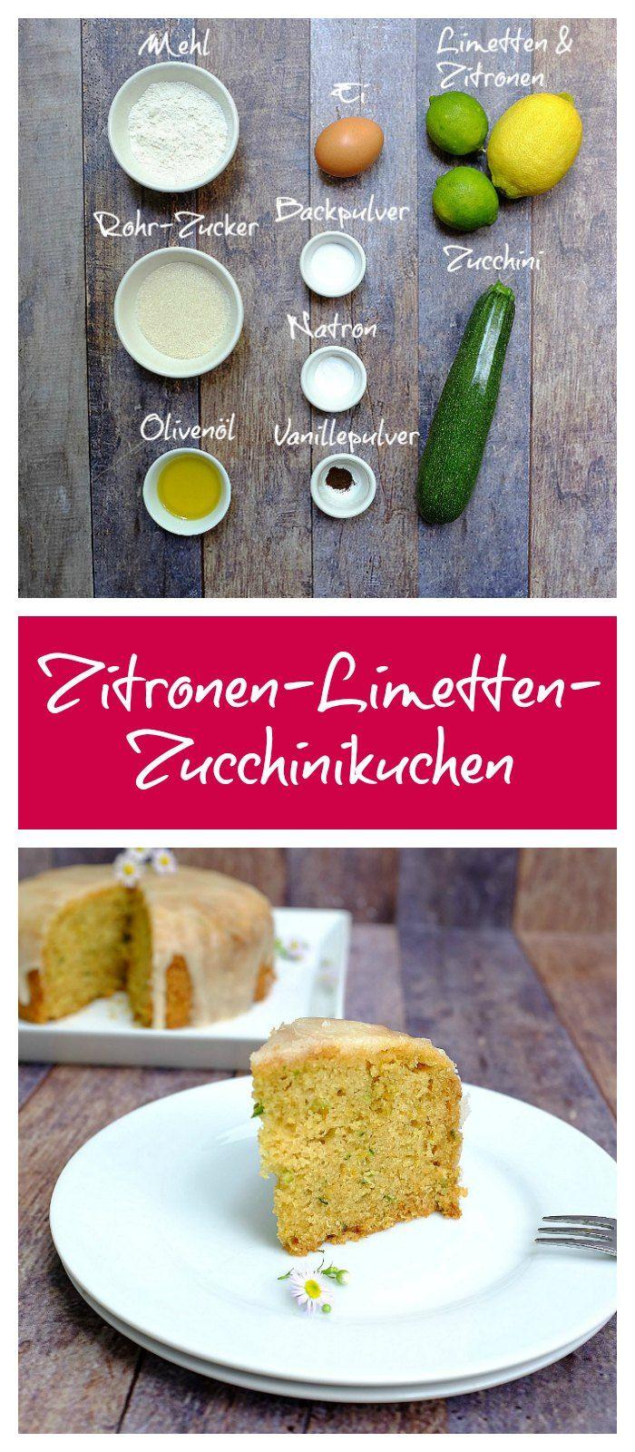 Zucchini-Kuchen | Sommerkuchen | Zitronenkuchen | Limettenkuchen | einfaches Kuchenrezept