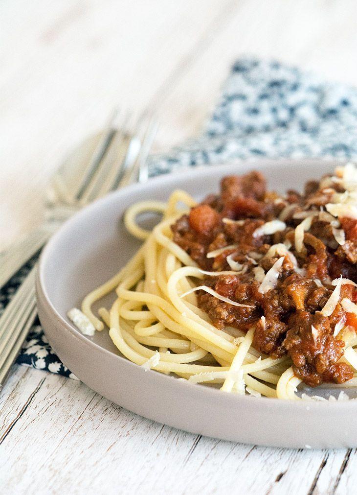 spaghetti bolognese opskrift