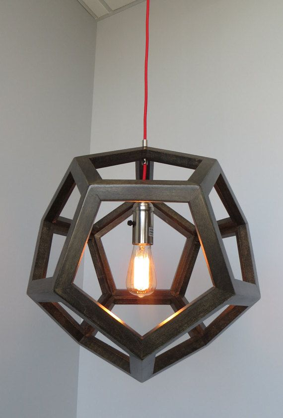 Dodecahedron Geometric Hanging Pendant Light  by SevenbravoDesigns