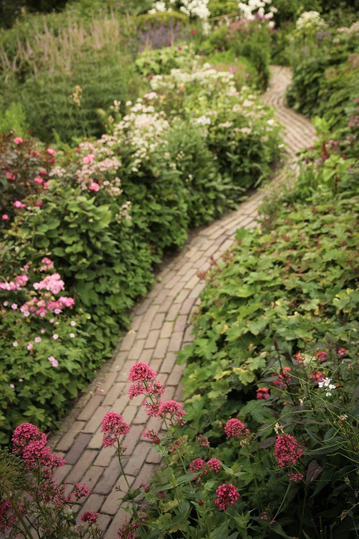 Aan een doodlopend weggetje in het Noord-Hollandse landschap ligt, deels verscholen achter hagen, een idyllisch plantenparadijs van ruim 2500 m2 groot.Rondwandelend komt u telkens weer nieuwe verrassingen tegen. Deze tuin is gemaakt met een passie voor kleuren…Vele vaste planten borders op kleur, Hortensia-hagen en geurende Engelse rozen, een cottage-tuin, een natuurlijke folievrije vijver vol groene kikkers, een Vlindertuin, vogelbosjes, de zandstenen watermuur, de Italiaanse vijvertuin –…